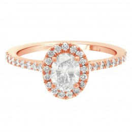 Harriot Oval 1(Rose) engagement ring