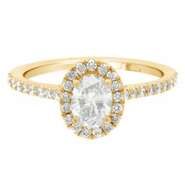 Harriot Oval 1(Yellow) engagement ring