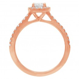 Harriot Oval 2(Rose) engagement ring