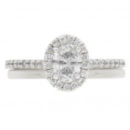 Harriot Oval 4 engagement ring