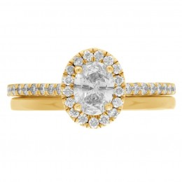 Harriot Oval 4(Yellow) engagement ring