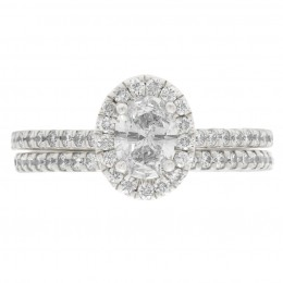 Harriot Oval 5 engagement ring