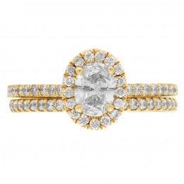 Harriot Oval 5(Yellow) engagement ring