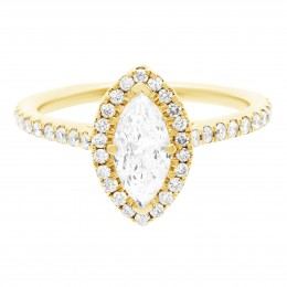 Harriot (marquise) 1(yellow) engagement ring