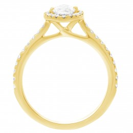 Harriot (marquise) 2(yellow) engagement ring