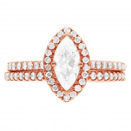 Harriot (marquise) 5 (Rose) engagement ring