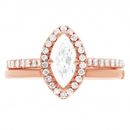 Harriot (marquise) 4(Rose) engagement ring