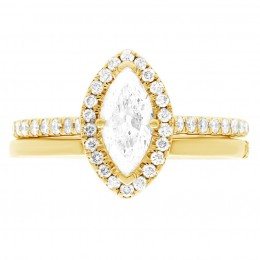 Harriot (marquise) 4(yellow) engagement ring