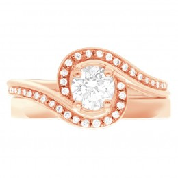 Heidi 4 rose gold engagement ring dublin