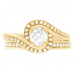 Heidi 1 yellow gold engagement ring Dublin