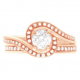Heidi 5 rose gold engagement ring dublin