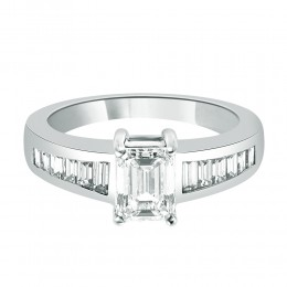 Maria emerald cut engagement ring
