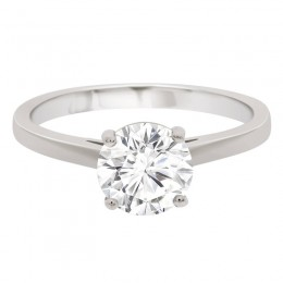 4 claw solitaire engagement ring