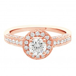 Antique engagement ring - Juliet rose gold 1