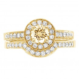 Antique engagement ring - Juliet Yellow gold 4