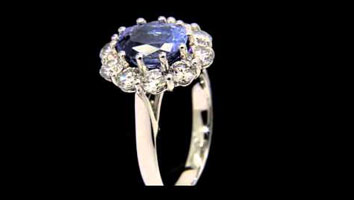 """Catherine Sapphire"" – Sapphire and Diamond Engagement Ring"