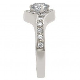 Kimberly 3(White) engagement ring