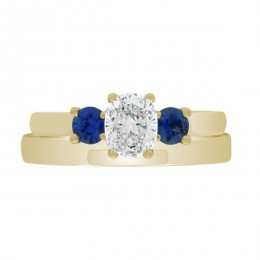 Diamond Sapphire Trilogy yellow gold (Lucia 4)