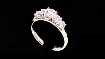 """Nina""- Five Stone Diamond Engagement Ring."