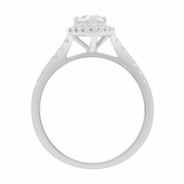 Maura engagement ring white