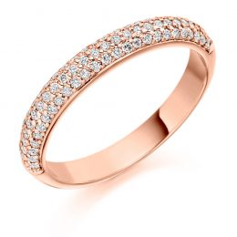 Micro Pave Wedding Band (rose gold)