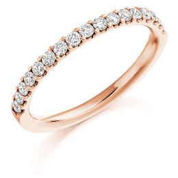 Micro Scallop Set Wedding Band (rose gold)