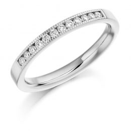 Milgrain Detail Wedding Ring