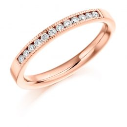 Milgrain Detail Wedding Ring (rose gold)