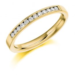 Milgrain Detail Wedding Ring (yellow gold)