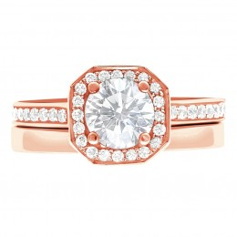 Mille 4(Rose) engagement ring