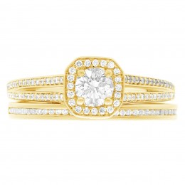 Millie (split) 5(yellow) engagement ring