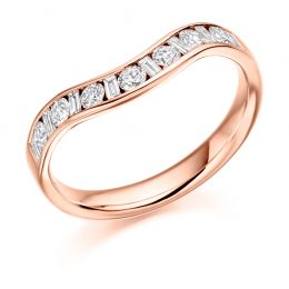 Mixed Cut Wedding Ring (rose gold)
