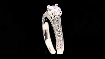 """lndia"" Diamond Encrusted Engagement Ring"