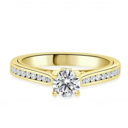 Pamala Engagement Ring in Yellow Gold with Dia