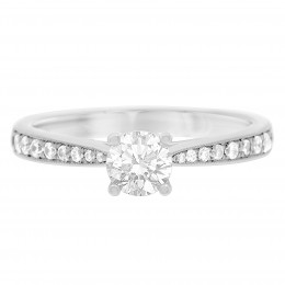 Pave set engagement ring