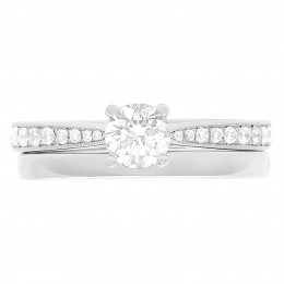 Polly 4 diamond engagement ring