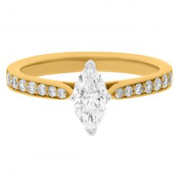 Marquise Cut Engagement Ring - polly
