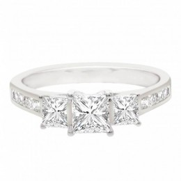 Princess Trilogy Engagement Ring