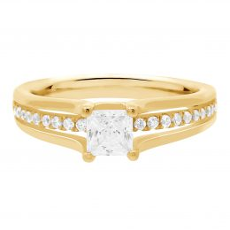 Princess Cut Diamond Engagement Ring (mandy YG 1)