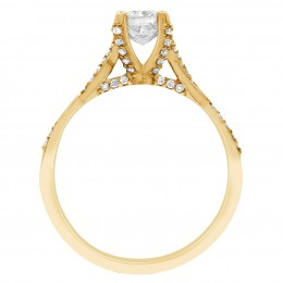 Ritz 2 engagement ring yellow gold