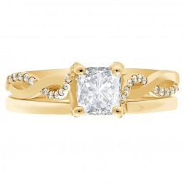 Ritz 4 engagement ring yellow gold