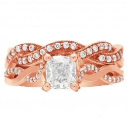 Ritz 5 engagement ring rose gold