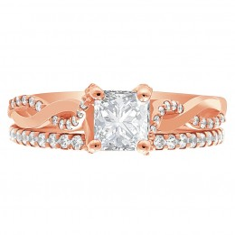 Ritz 5.1 engagement ring rose gold