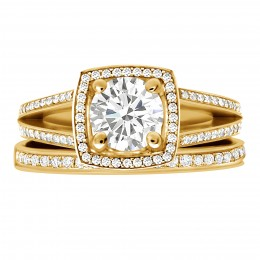 Scarlett 5(yellow) engagement ring