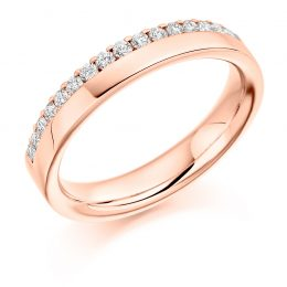 Side Set Wedding Band (rose gold)