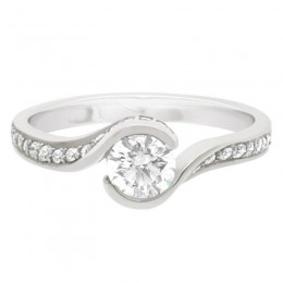 Halo Twist Engagement Ring