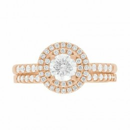 Solase engagement ring rose gold
