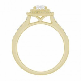 Solase engagement ring yellow gold 2