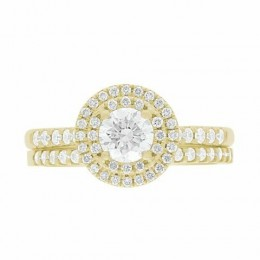 Solase engagement ring yellow gold