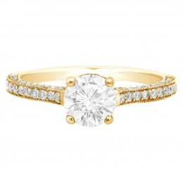 Sydney 1.1(Yellow gold)engagement ring